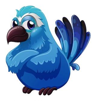 Een grote blauwe vogel