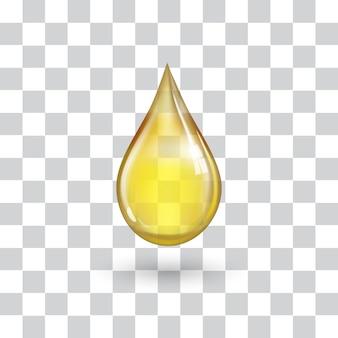 Een grote gele druppel