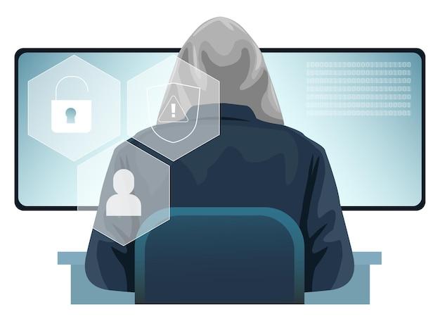 Een hacker probeert een overheidssite te hacken