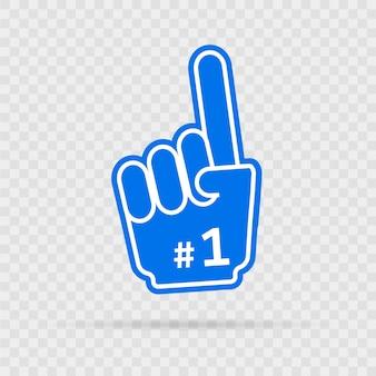 Één hand hashtag