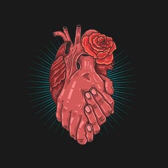 Een hart samen symbool illustratie