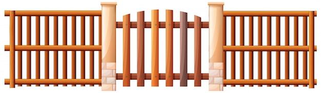 Een houten barricade