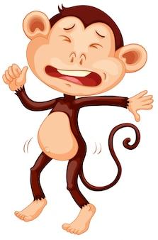 Een huilend apenkarakter