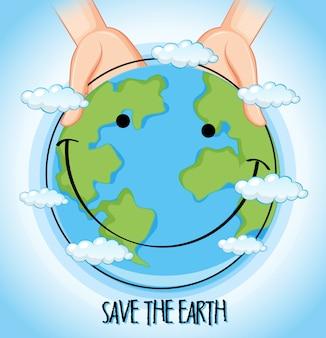 Een icoon van de aardedag