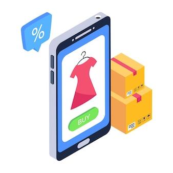 Een icoon van online kleding app premium download
