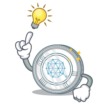 Een idee hebben qtum coin character cartoon