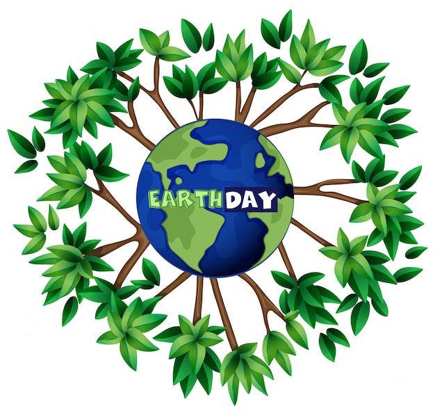 Een illustratie van de aardedag