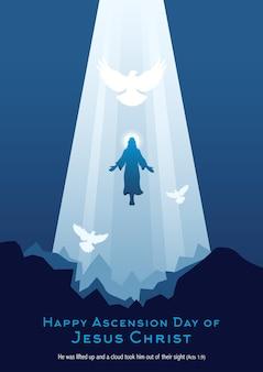 Een illustratie van de hemelvaart van jezus christus