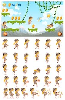 Een jungle spring game-sjabloon
