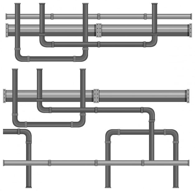 Een kaart met waterleidingsystemen