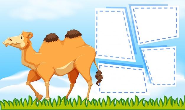 Een kameel op lege nota