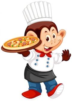 Een karakter van een aapchef-kok