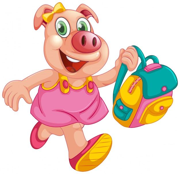 Een karakter van een varkensstudent