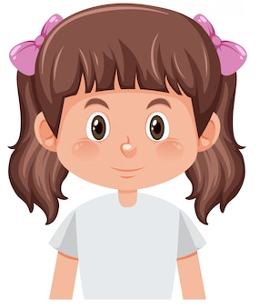 Een karakter van het bosjes donkerbruine meisje
