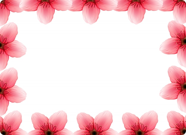 Een kersenbloesem frame