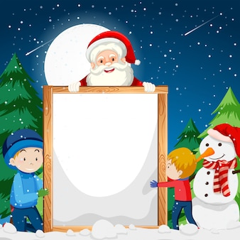 Een kerst notitie sjabloon