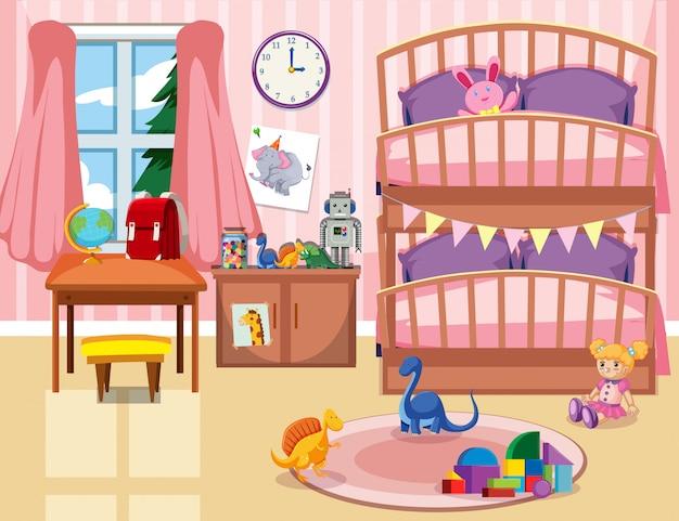 Een kind slaapkamer achtergrond