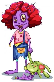 Een kind zombie karakter