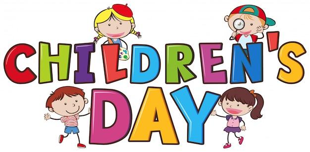 Een kinderdag-logo