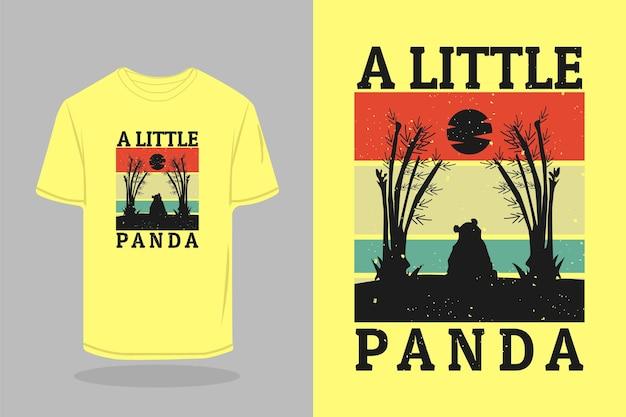 Een klein panda silhouet t-shirt mockup ontwerp