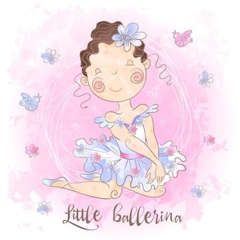 Een kleine ballerina met vogels