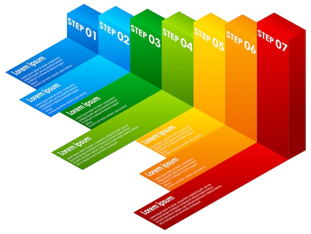 Een kleurrijke infographic stappen