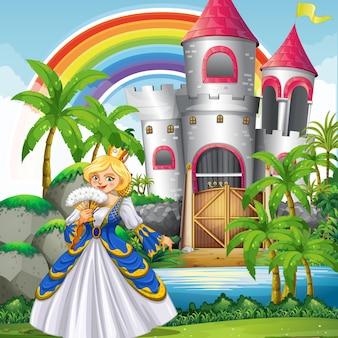 Een koningin in het prachtige kasteel
