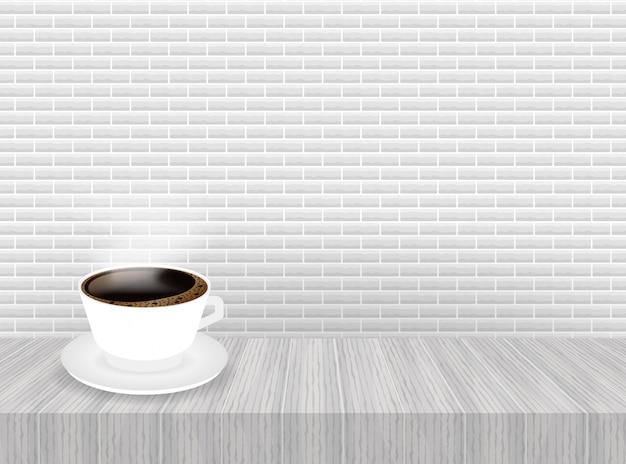 Een kop koffie en schotel