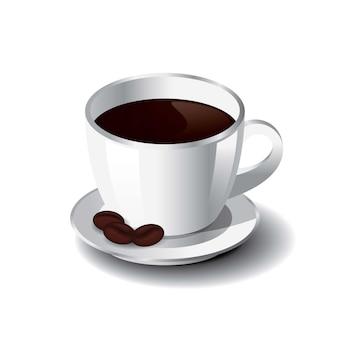 Een kopje koffie vectorillustratie