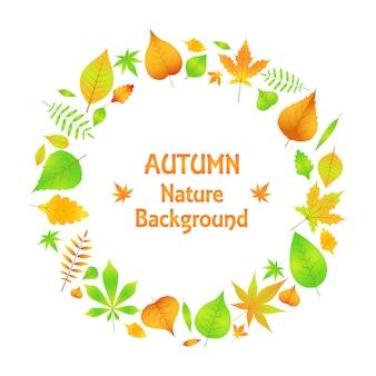 Een krans van herfstbladeren