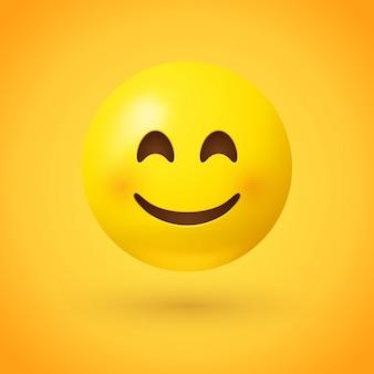 Een lachende gezicht emoji Premium Vector