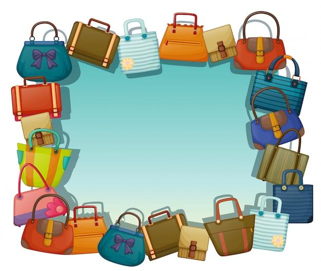 Een leeg oppervlak omringd met verschillende tassen