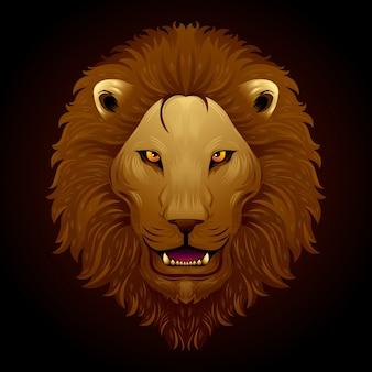 Een leeuwenkop