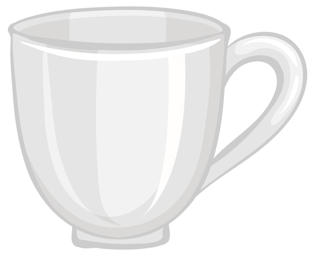 Een lege theekop die op witte achtergrond wordt geïsoleerd