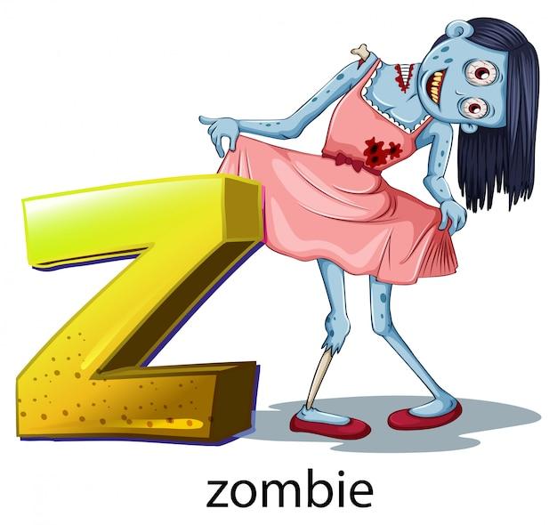 Een letter z voor zombie