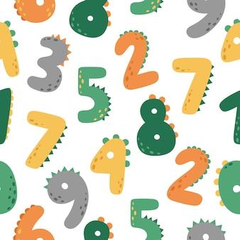Een leuk naadloos patroon met cijfers
