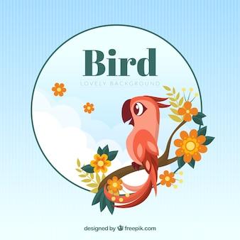 Een leuke vogel op een tak