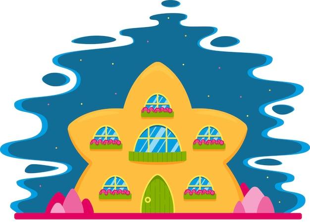 Een licht huis in de vorm van een ster