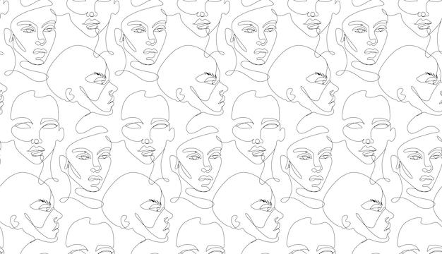 Een lijn naadloos patroon