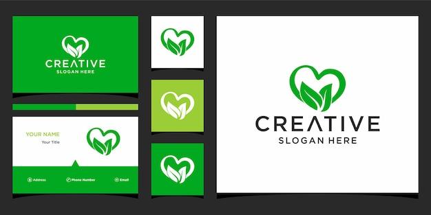 Een logo-ontwerp met visitekaartjesjabloon