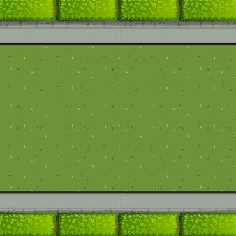 Een luchtfoto van tuin