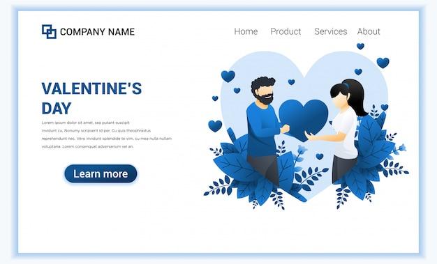 Een man drukt liefde uit door een hartsymbool aan een vrouw te geven. valentine day celebration. man en vrouw in relaties