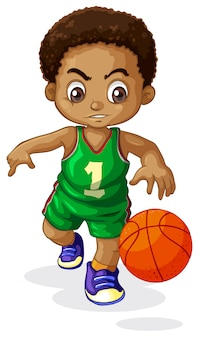 Een mannelijk kind van de basketbalspeler