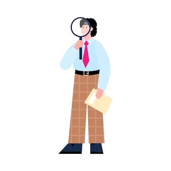 Een mannelijke hr manager is op zoek naar en neemt nieuwe medewerkers aan die job- en carrièremogelijkheden bieden