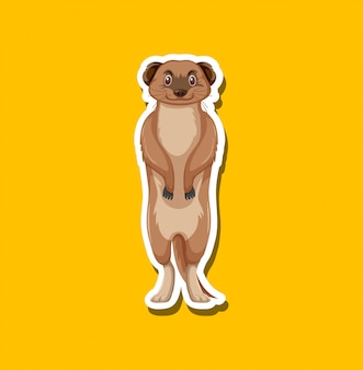 Een meerkat stripfiguur