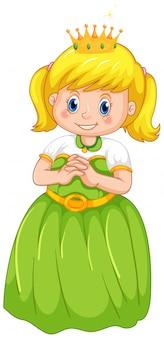 Een meisje met prinsessenkostuum