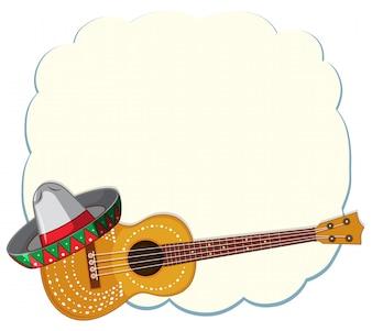 Een Mexicaanse sjabloon met gitaar