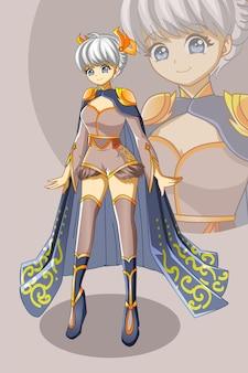 Een mooi meisje ontwerp karakter spel cartoon afbeelding