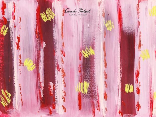 Een mooie roze en rode penseelstreek abstracte schilderachtergrond