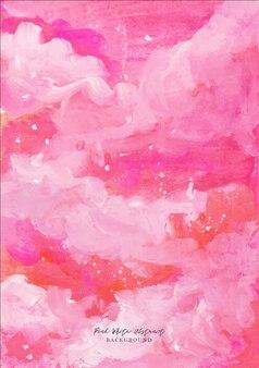 Een mooie roze witte en rode abstracte gouache aquarel achtergrond